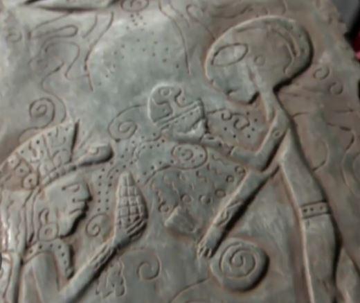 Удивительная находка в Мексике: камни с изображением встречи людей с инопланетянами