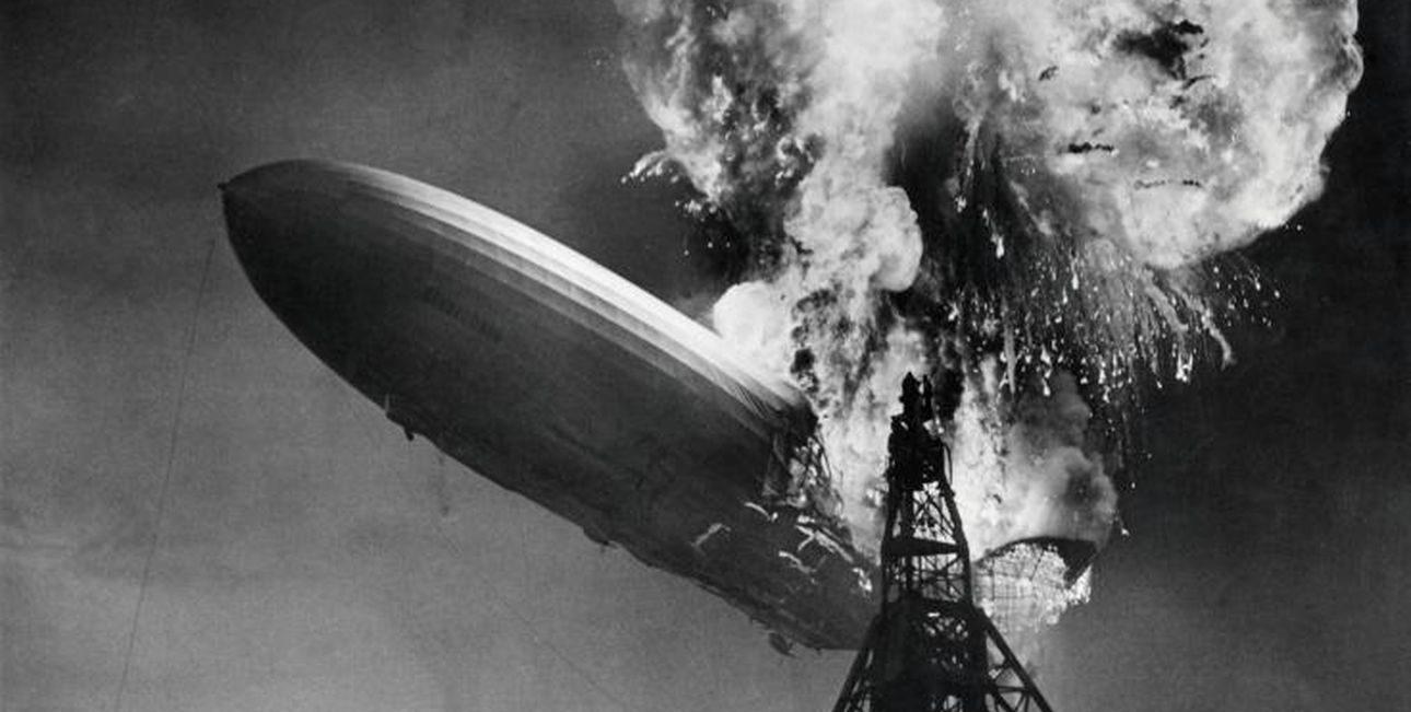 """Крушение дирижабля """"Гинденбург"""": предоставлены кадры катастрофы с невиданного ракурса"""
