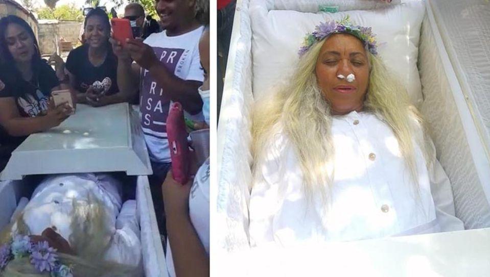Жительница Доминиканы устроила репетицию собственных похорон