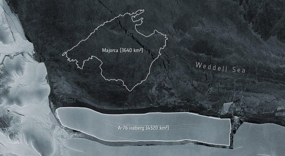 Новый айсберг-рекордсмен откололся от ледника в Антарктиде