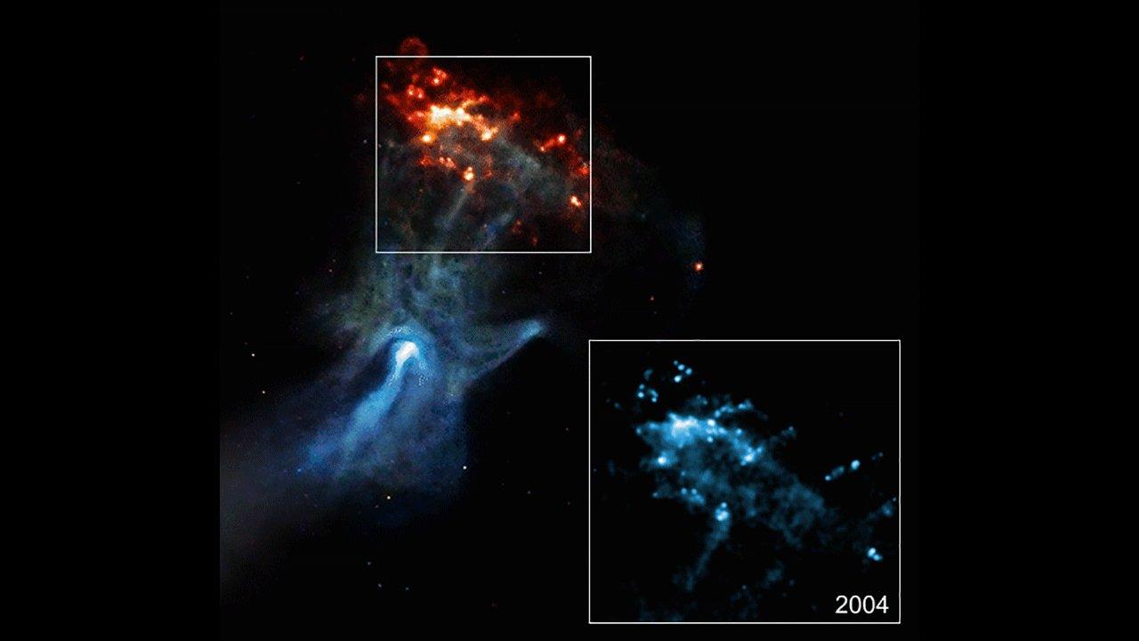Астрономы обнаружили в космосе гигантскую «призрачную руку»