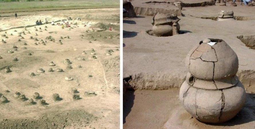 В урне 4000-летней давности нашли обугленные останки беременной женщины