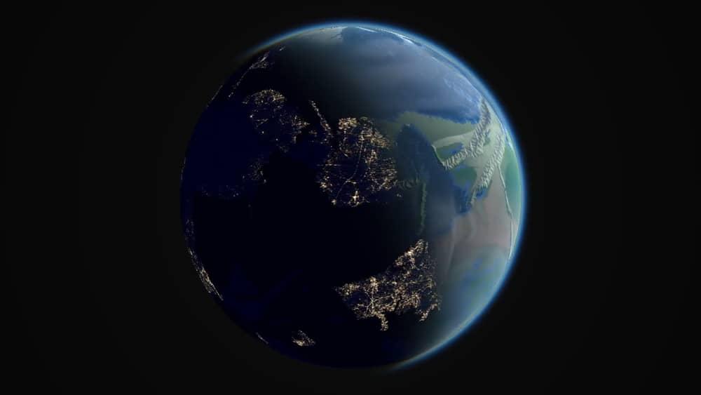 Миллиарды лет эволюции Земли показали в коротком видео