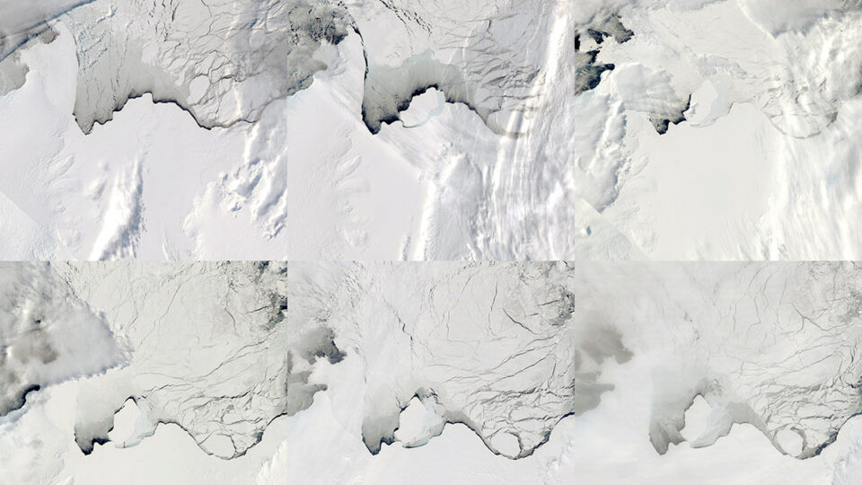 В Антарктиде за три дня исчезло огромное озеро