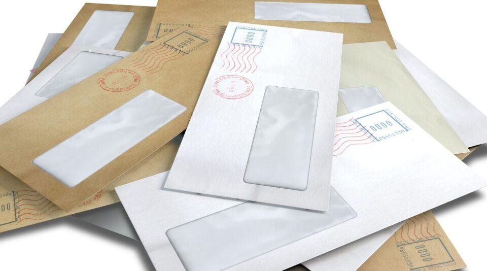 Виды почтовых конвертов для писем