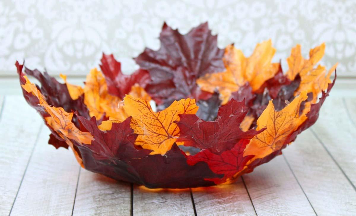 Осенние поделки из листьев — идеи