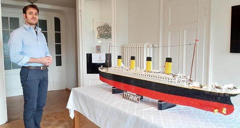 31-летний учитель за 8 недель построил копию Титаника из Lego
