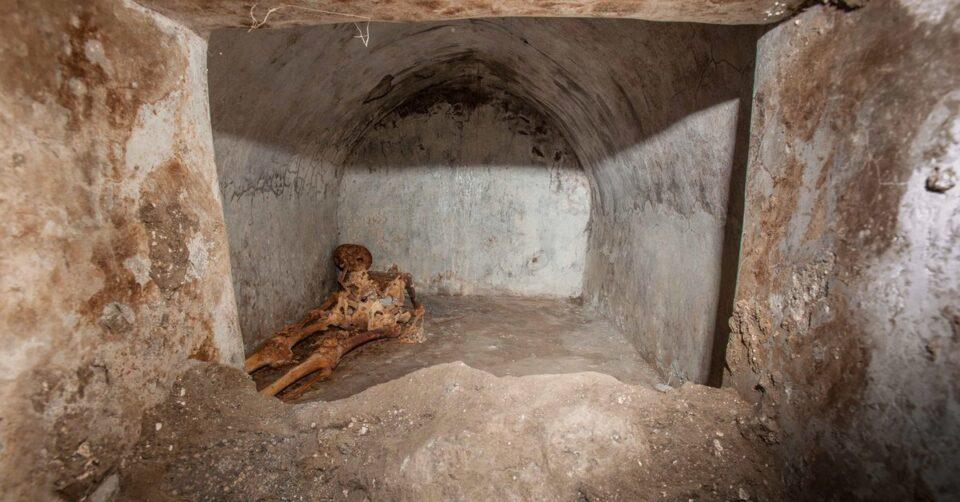 В Помпеях нашли останки, принадлежащие местной знаменитости