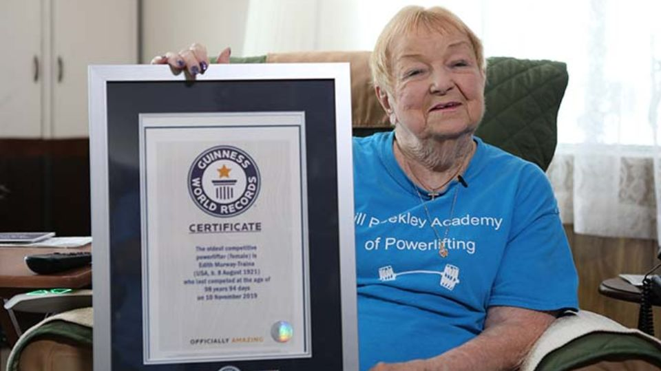 99-летняя американка подняла штангу весом 68 килограмм