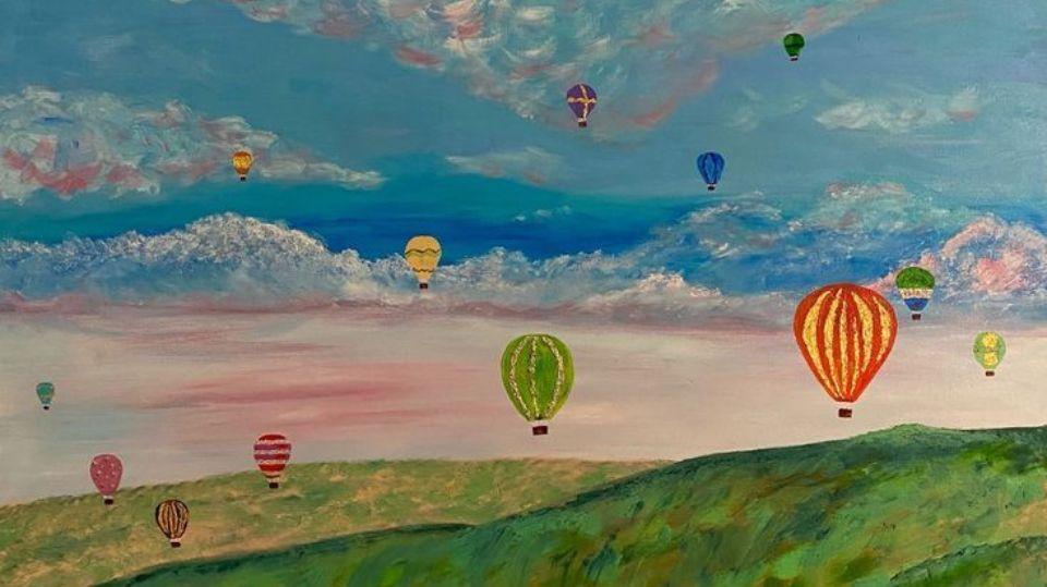 Картина «Воздушные шары» художника Зимина Алексея