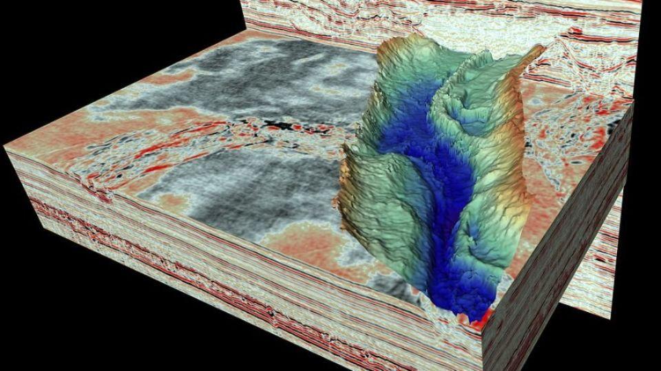 Под Северным морем обнаружили огромные ледниковые туннели