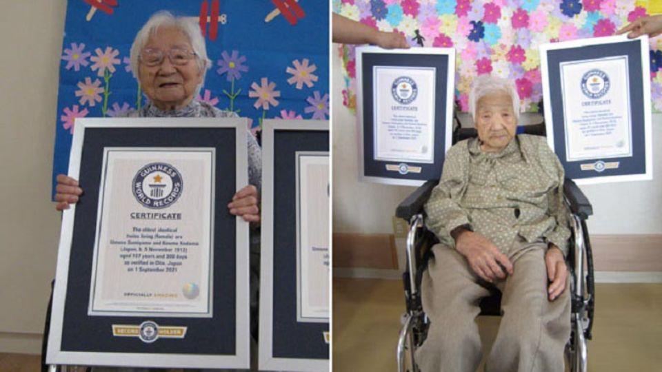 Сестры из Японии стали самыми старыми близнецами в мире