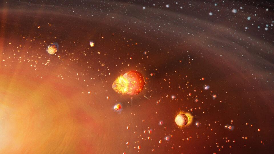 В молодой звездной системе нашли последствия столкновения планет