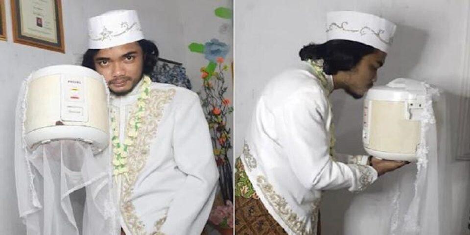 Мужчина «женился» на рисоварке и через четыре дня «развелся»