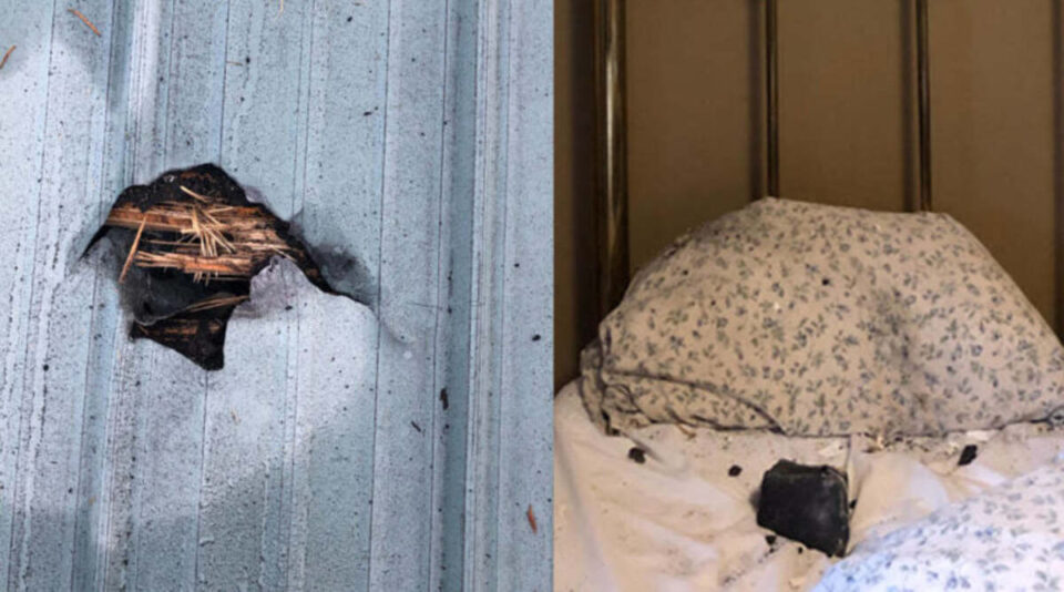Метеорит пробил крышу и едва не убил спящую женщину