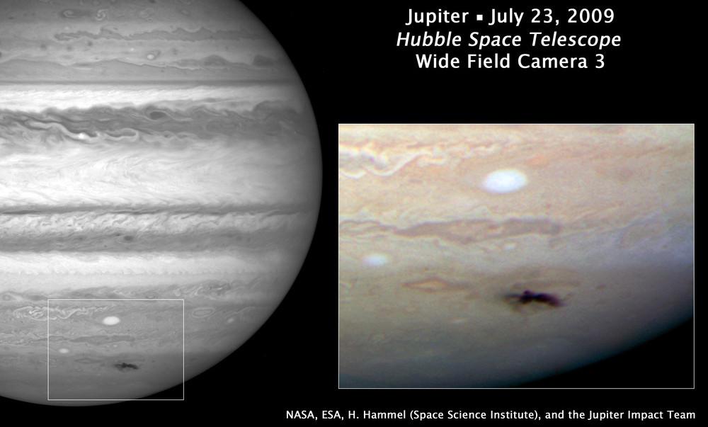 В НАСА выяснили происхождение черного пятна на Юпитере