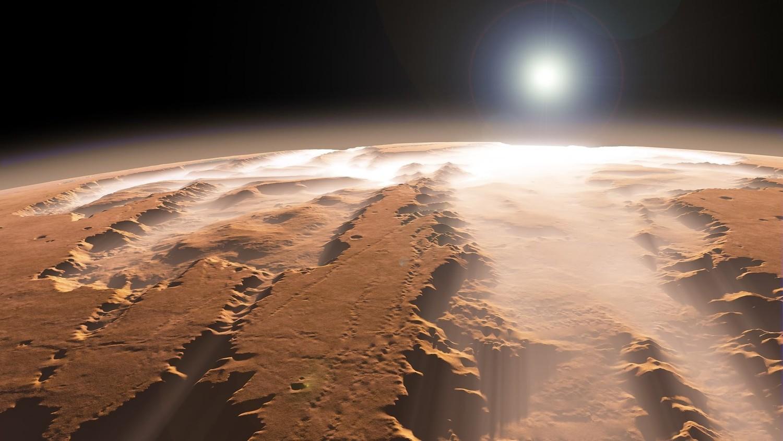 Возле Марса на большой скорости промчался неизвестный объект