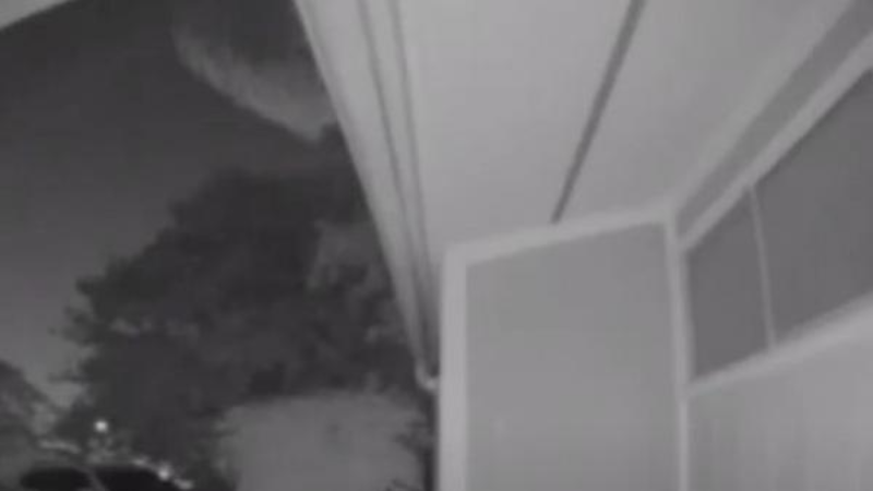 В Техасе над домами пролетел огромный НЛО: объект запечатлела камера видеонаблюдения