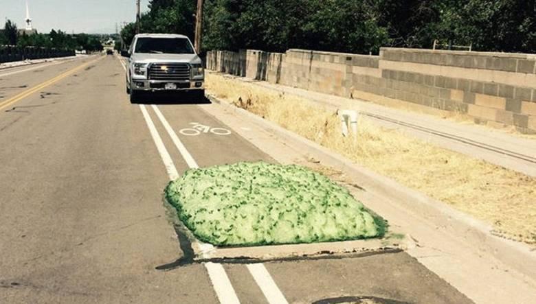 Штат Юта атакован зеленой токсичной пеной