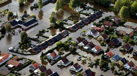 Наводнения в центральной Швеции. Под водой улицы Стокгольма