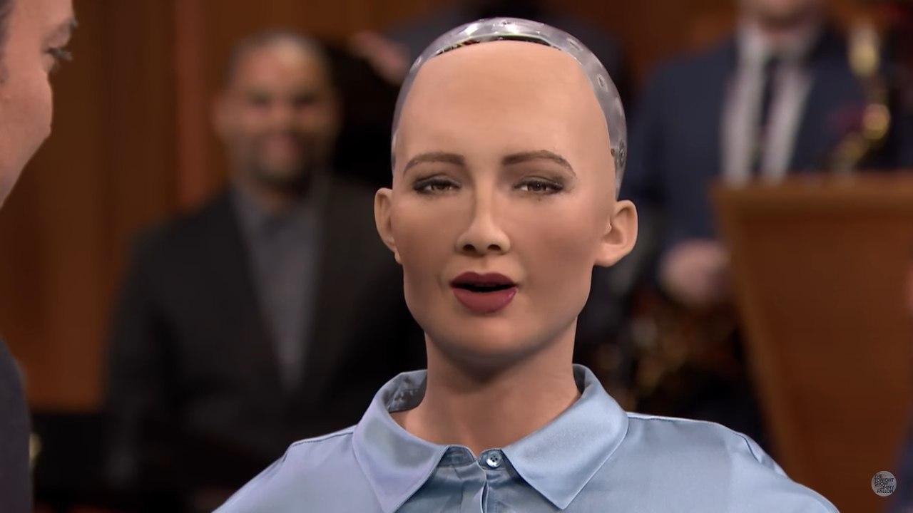 Робот София заявила на TV — шоу, что мечтает захватить мир
