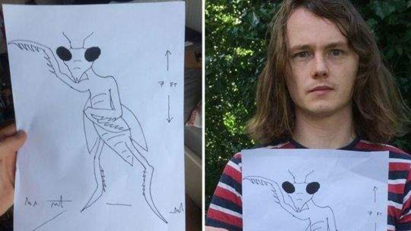 Парень из Британии утверждает, что на него напал двухметровый богомол