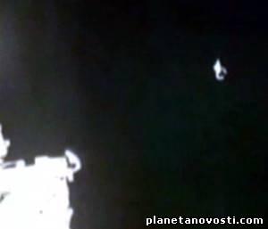 Возле космической станции появился странный объект