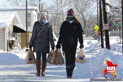 США накрыли сибирские морозы