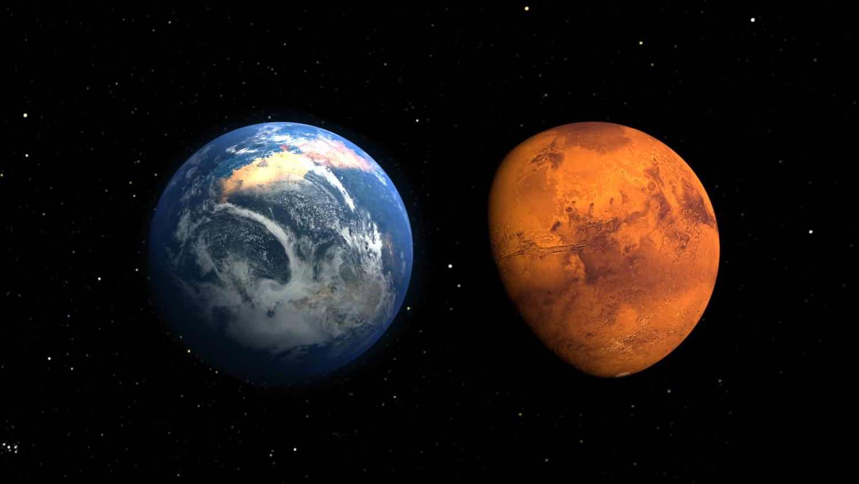 Землю ожидает катастрофическое столкновение с Марсом
