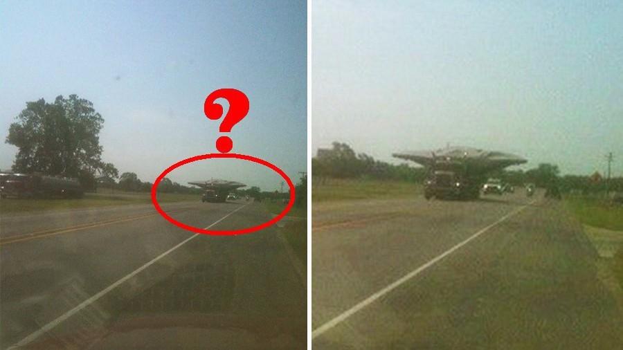 По техасской трассе на большой скорости промчался грузовик с НЛО