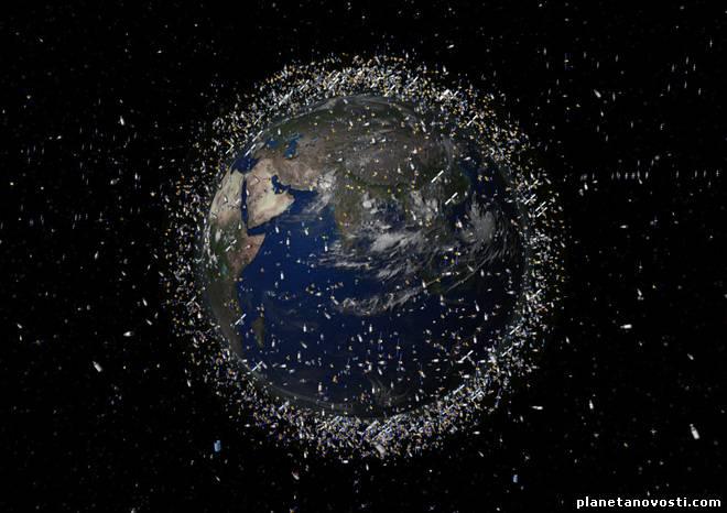 Япония бутит использовать космическую сеть,для космического мусора