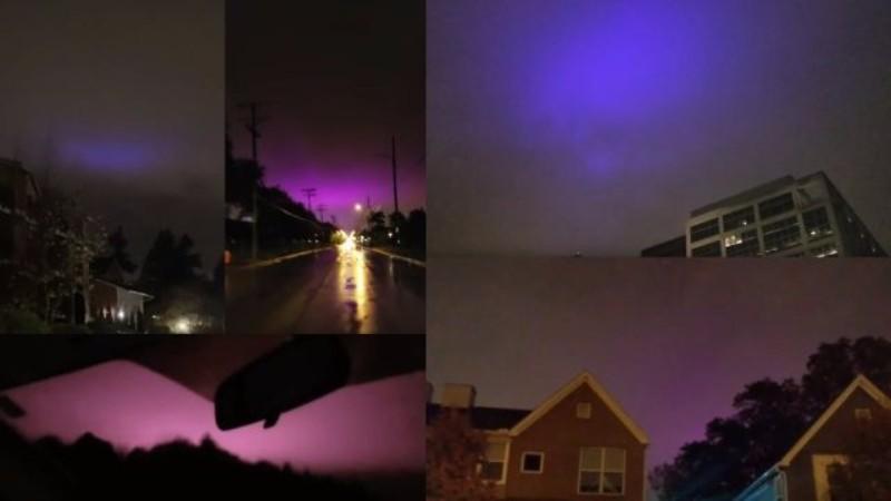 Пришельцы окрашивают небо над США в фиолетовый цвет