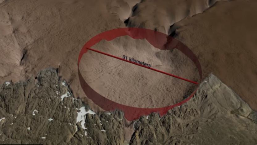 В Гренландии обнаружен кратер размером с Париж