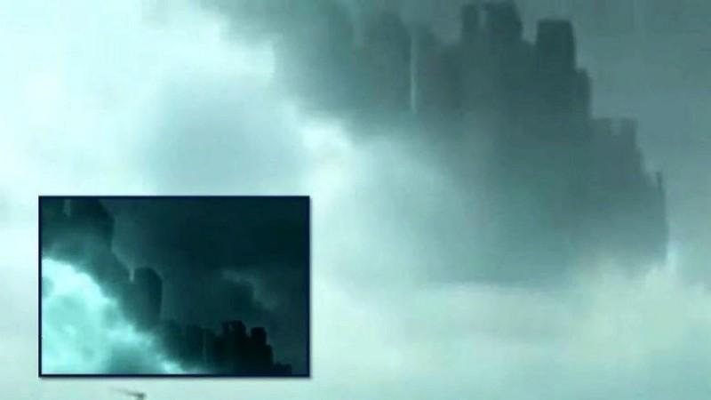 В небе над Китаем опять появился призрачный город