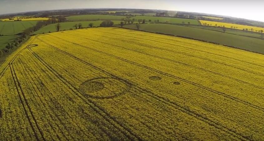 В английском графстве Глостершир появились круги на поле