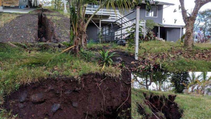 На Гавайях количество трещин в земле увеличивается с каждым днем