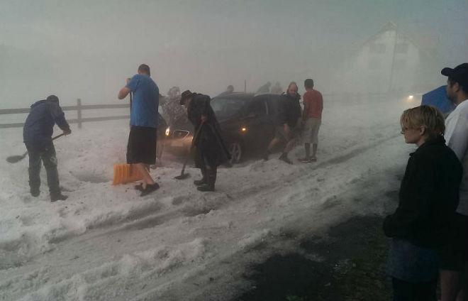 В Швейцарию и Турцию посреди июня пришла зима