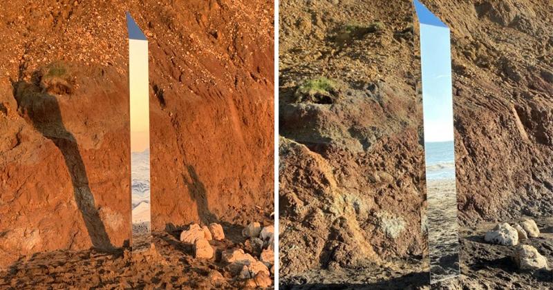 На британском острове Уайт появился новый таинственный монолит