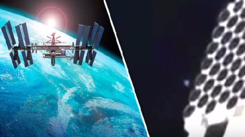 Возле МКС обнаружили объект, который меняет свою форму