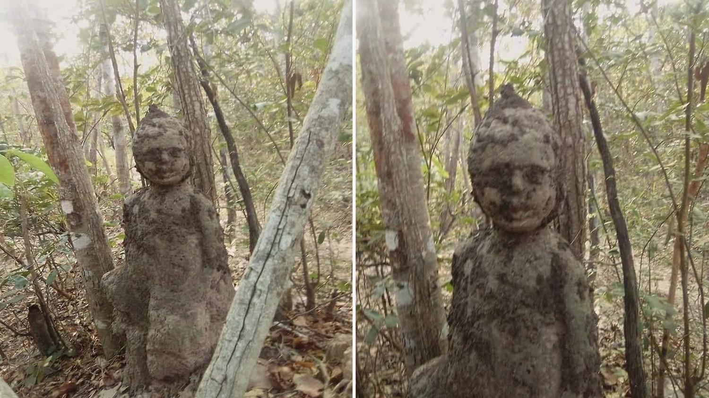 В Таиланде нашли термитник, похожий на человеческого ребенка