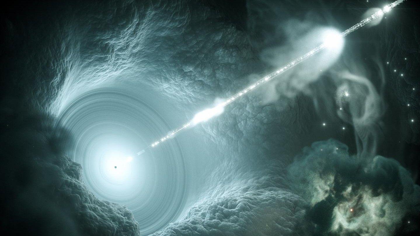 Обнаружен яркий блазар струя, которого направлена на Землю