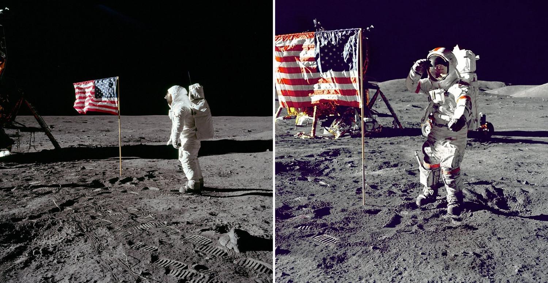 Высадка НАСА наЛуну: почему флаг Аполлона — 11развевался вкосмосе?