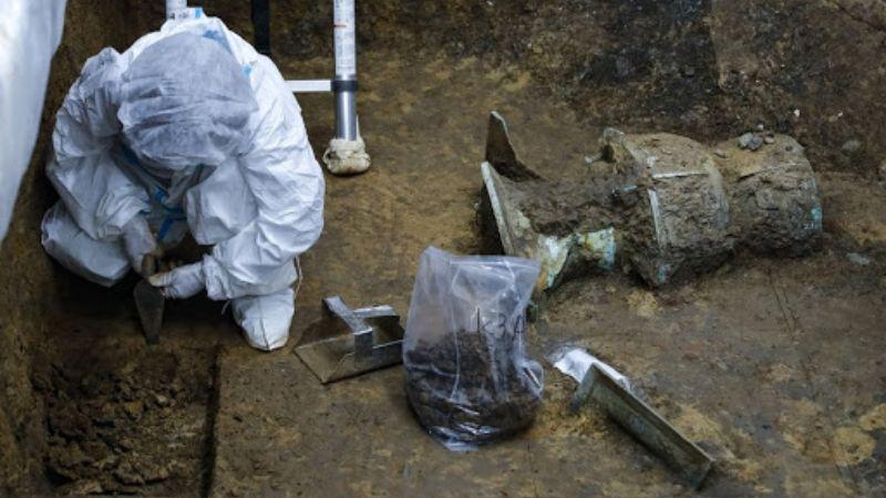 В Китае нашли жертвенные ямы с артефактами неизвестной цивилизации