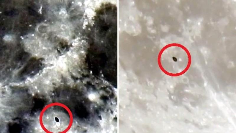 Мужчина заснял на видео пролетевший возле Луны звездолет