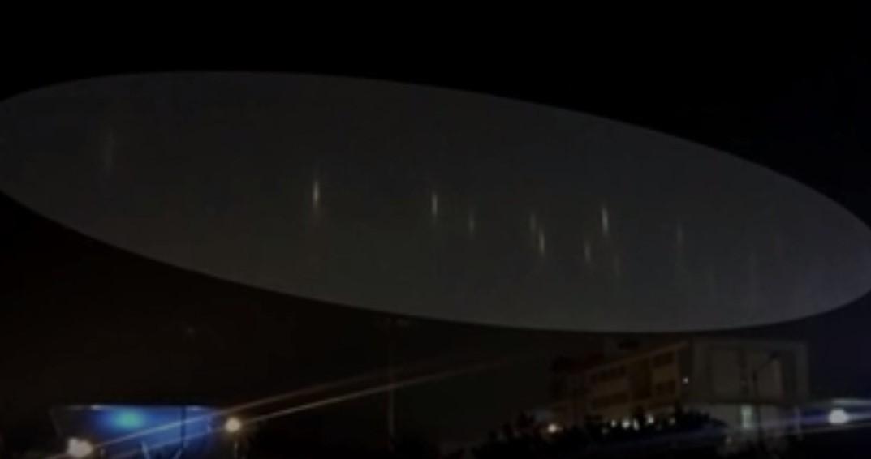 Над корейским городом три дня подряд появлялись странные световые столбы