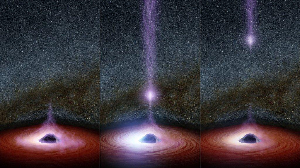 NASA зафиксировало светящийся объект, который вырвался из черной дыры