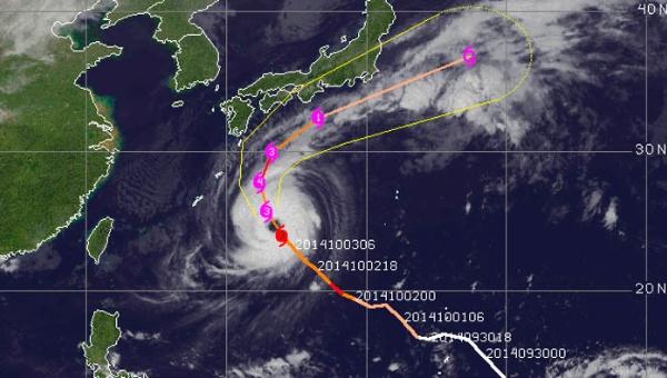 Один человек погиб и трое пропали без вести в результате Тайфуна Phanfone в Японии