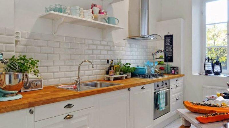 Отделка кухни декоративным камнем – нюансы и советы мастера