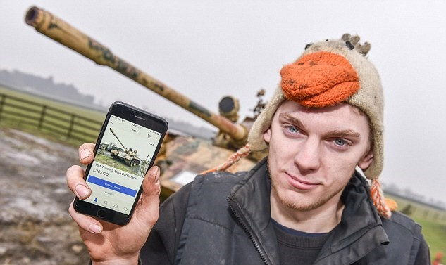 Британец выставил на продажу на eBay танк с небольшим пробегом