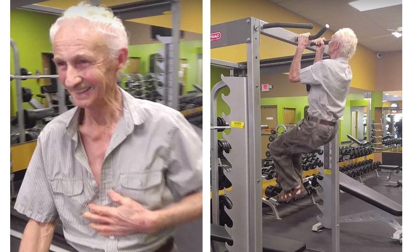 90-летний пенсионер из Флориды отметил свой юбилей, подтянувшись 24 раза